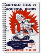 Buffalo Bills 1962 Program Spiral Notebook