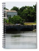Buffalo History Museum And Delaware Park Hoyt Lake Oil Painting Effect. Spiral Notebook