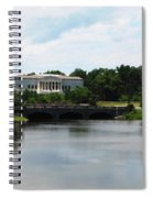 Buffalo History Museum And Delaware Park Hoyt Lake Oil Painting Effect Spiral Notebook