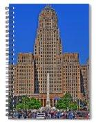 Buffalo Marathon 2013 City Hall View  Spiral Notebook