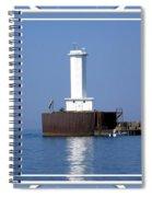 Buffalo New York Outer Breakwater Lighthouse Spiral Notebook