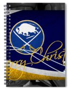 Buffalo Sabres Christmas Spiral Notebook