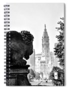 Buffalo Statue On The Parkway Spiral Notebook