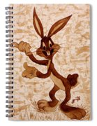 Bugs Banny Original Coffee Painting Spiral Notebook