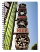 Build Your Ride Signage Downtown Disneyland 01 Spiral Notebook