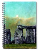 Building A Mystery 2 - Stonehenge Art By Sharon Cummings Spiral Notebook