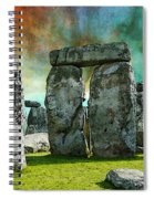 Building A Mystery - Stonehenge Art By Sharon Cummings Spiral Notebook
