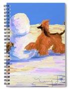 Building A Snowman Spiral Notebook