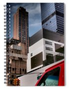 Tribute To Leger 3 - Building Blocks - Architecture Of New York City Spiral Notebook