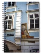 Building In Blue Spiral Notebook