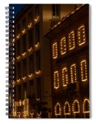 Building Windows Outlined In Lights Spiral Notebook