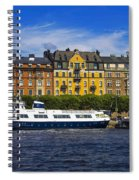 Buildings And Boats Spiral Notebook