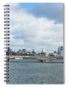 Buildings At The Waterfront, Thames Spiral Notebook