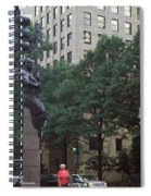 Buildings In A City, Trade And Tryon Spiral Notebook