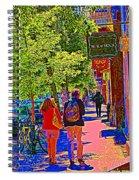 Buk And Nola Gift Shop Decor Boutique Rue Laurier Art Of Montreal Street Scene Carole Spandau Spiral Notebook