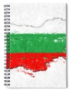 Bulgaria Painted Flag Map Spiral Notebook