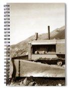 Bull Dozer Road Construction On Highway One Big Sur Circa 1930 Spiral Notebook