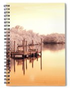 Bull Frog Creek Gibsonton Fl Usa Near Infrared Spiral Notebook