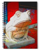 Bull Frog Painted Spiral Notebook