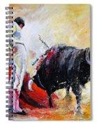 Bull In Yellow Light Spiral Notebook
