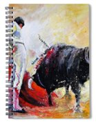 Bull In Yellow Light Spiral Notebook