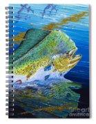 Bull Reflection Off0032 Spiral Notebook