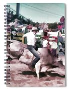 Bull Rider Digital Art  By Cathy Anderson Spiral Notebook