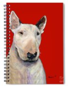 Bull Terrier On Red Spiral Notebook