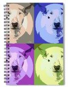 Bull Terrier Pop Art Spiral Notebook