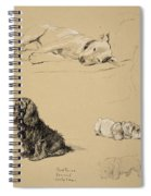 Bull-terrier, Spaniel And Sealyhams Spiral Notebook