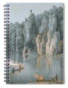 Bullard Rock On The New River Spiral Notebook
