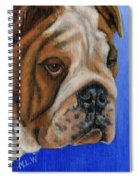 Beautiful Bulldog Oil Painting Spiral Notebook