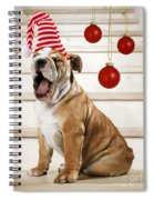 Holiday Bulldog Puppy  Spiral Notebook