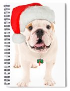 Bulldog Santa Spiral Notebook