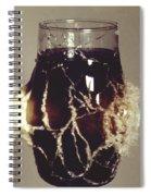 Bullet Piercing Glass Of Soda Spiral Notebook
