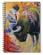 Bullfighting In Neon Light 02 Spiral Notebook