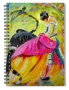 Bullfighting In Neon Light 01 Spiral Notebook