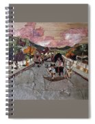 Bullock Cart On Bridge Spiral Notebook