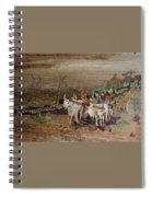 Bullock Cart On Cross Country Road  Spiral Notebook
