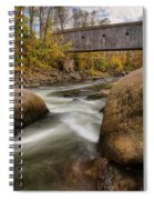 Bulls Bridge Autumn Square Spiral Notebook