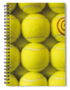 Bullseye Tennis Balls Spiral Notebook