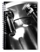 Bults Black  White Spiral Notebook