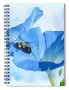 Bumblebee And Blue Morning Glory Spiral Notebook