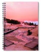 Bumpass Hell Sunset Spiral Notebook