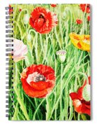 Bunch Of Poppies II Spiral Notebook