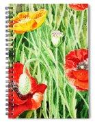 Bunch Of Poppies IIi Spiral Notebook
