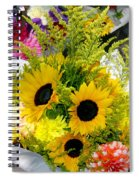Bunch Of Sunflowers Spiral Notebook