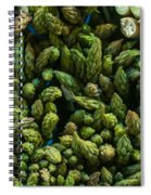 Bunches Of Asparagus On Display At The Farmers Market Spiral Notebook