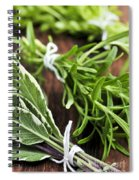 Bunches Of Fresh Herbs Spiral Notebook
