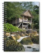 Bungalow In Koh Rong Island Beach In Cambodia Spiral Notebook
